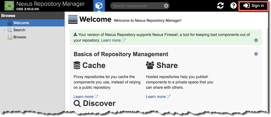 Lesson 1: Installing and Starting Nexus Repository Manager