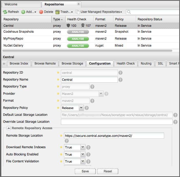 Managing Repositories