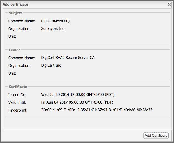 Managing Outbound Ssl Certificates