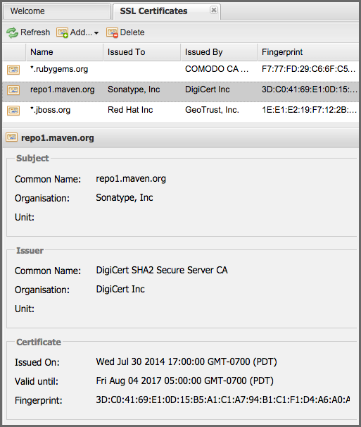 Managing Outbound Ssl Certificates