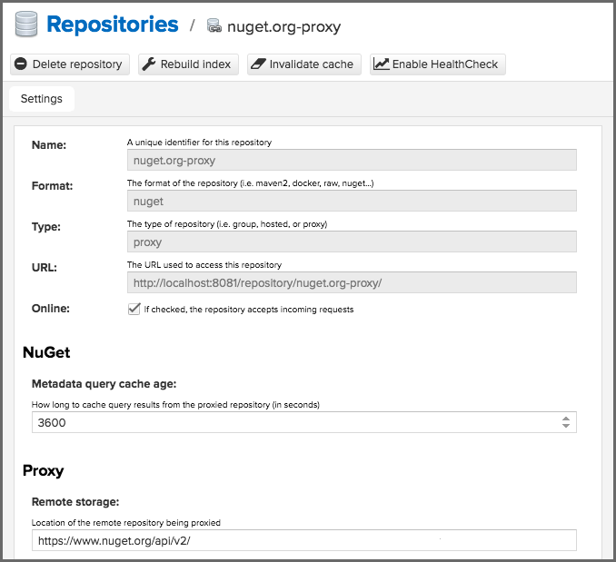 NuGet Proxy Repositories